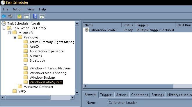 Windows 7 Task Scheduler console